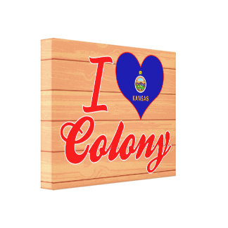 I Love Colony, Kansas Stretched Canvas Prints