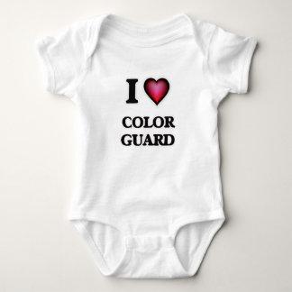 I Love Color Guard Baby Bodysuit