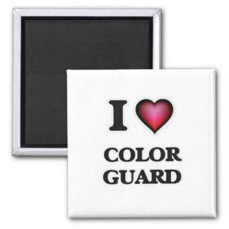 I Love Color Guard Square Magnet