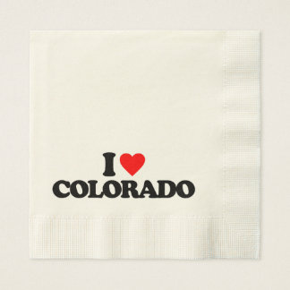 I LOVE COLORADO DISPOSABLE NAPKINS