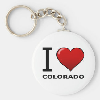 I LOVE COLORADO KEYCHAIN