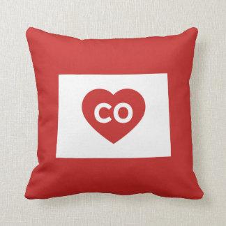 I Love Colorado State Throw Pillow