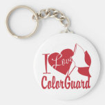I Love ColorGuard Basic Round Button Keychain