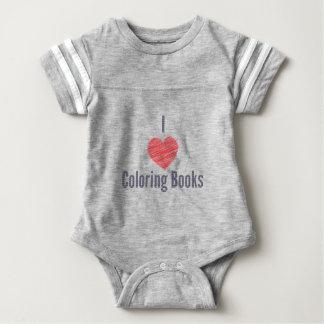 I Love Coloring Books Baby Bodysuit
