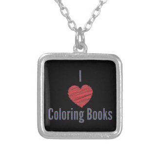 I Love Coloring Books Necklace