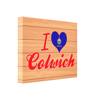 I Love Colwich, Kansas Gallery Wrap Canvas
