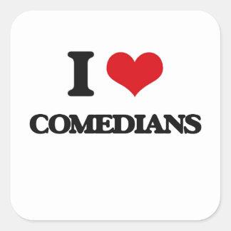 I love Comedians Square Sticker