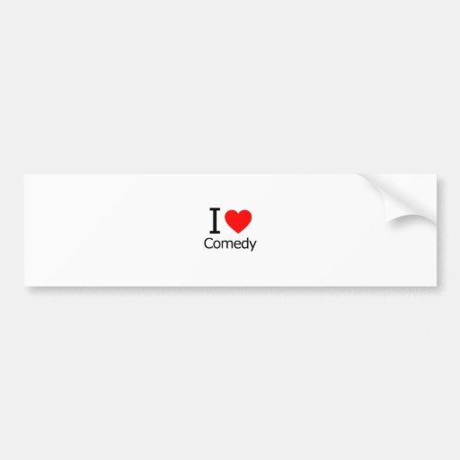 I Love Comedy Bumper Stickers
