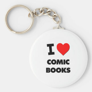 I Love Comic Books Key Chains