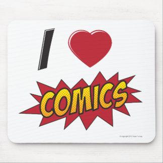 I love comics! mouse pad
