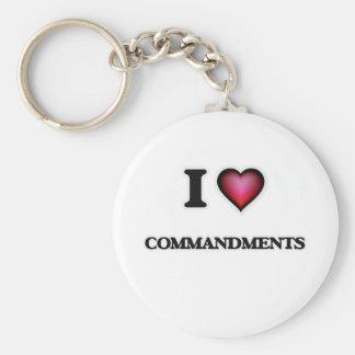 I love Commandments Basic Round Button Keychain