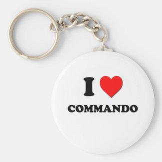 I love Commando Keychain