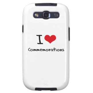 I love Commemorations Samsung Galaxy SIII Cases