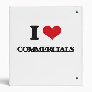 I love Commercials 3 Ring Binder