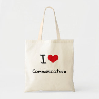I love Communication Tote Bag
