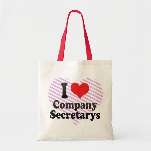 I Love Company Secretarys Bags
