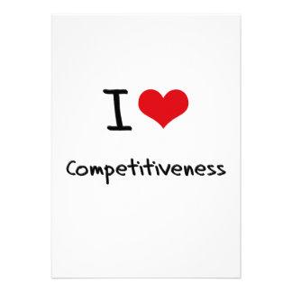 I love Competitiveness Personalized Invitation