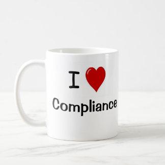 I Love Compliance I Love Regulation Two Sided Basic White Mug