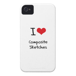 I love Composite Sketches iPhone 4 Case-Mate Case