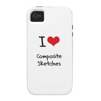 I love Composite Sketches iPhone 4/4S Case