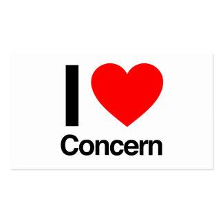 i love concern pack of standard business cards
