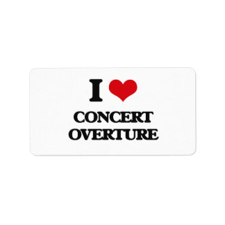 I Love CONCERT OVERTURE Address Label