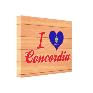 I Love Concordia, Kansas Stretched Canvas Prints