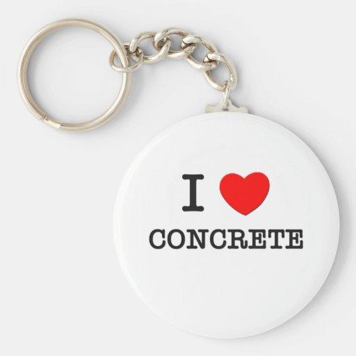 I Love Concrete Keychains