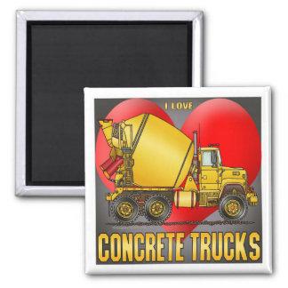 I Love Concrete Trucks Magnet