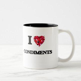 I love Condiments Two-Tone Mug