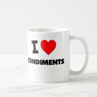 I love Condiments Basic White Mug