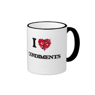 I love Condiments Ringer Mug