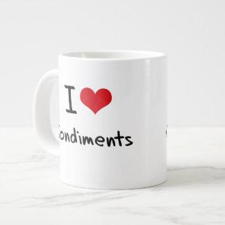 I love Condiments Jumbo Mugs
