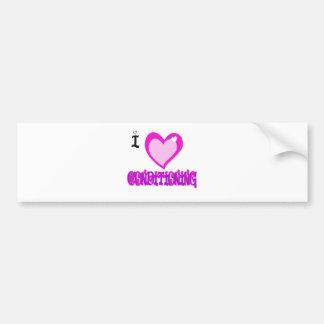 I LOVE Conditioning Bumper Sticker