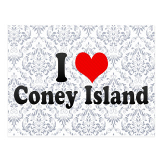 I Love Coney Island, United States Postcard