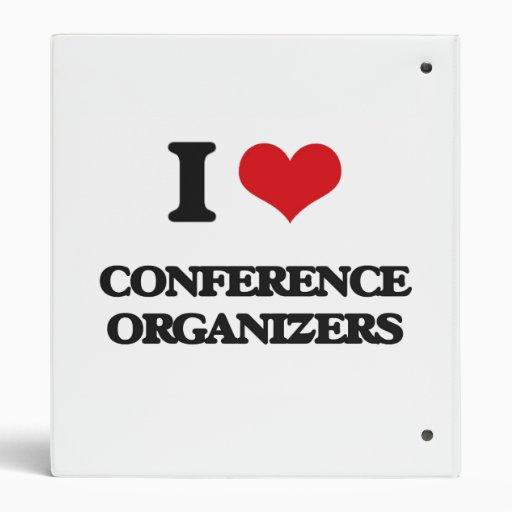 I love Conference Organizers Vinyl Binder