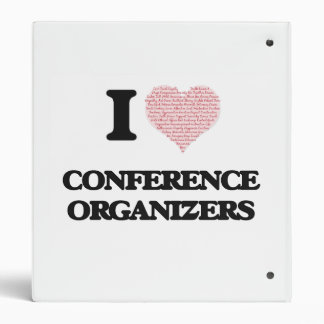 I love Conference Organizers (Heart made from word 3 Ring Binders