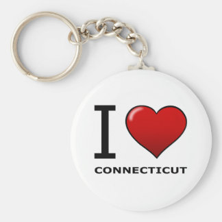 I LOVE CONNECTICUT KEYCHAIN