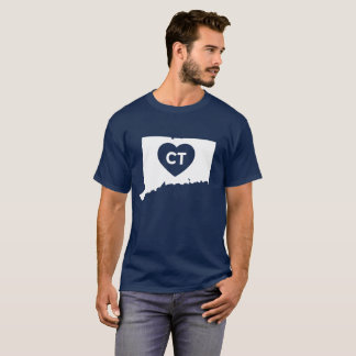 I Love Connecticut State Men's Basic Dark T-Shirt
