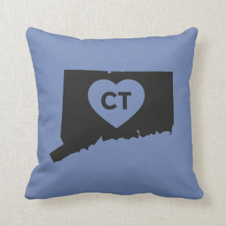 I Love Connecticut State Throw Pillow