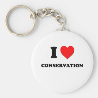 I love Conservation Keychain