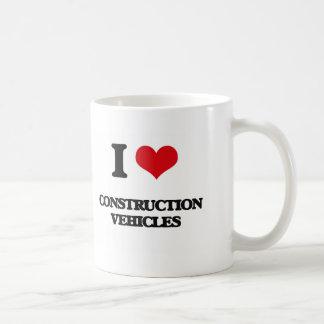 I love Construction Vehicles Mugs
