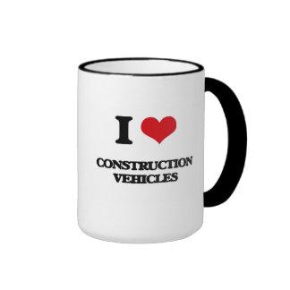 I love Construction Vehicles Coffee Mugs