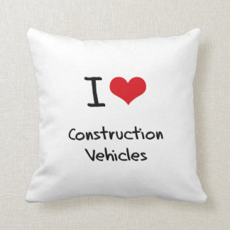 I love Construction Vehicles Pillow