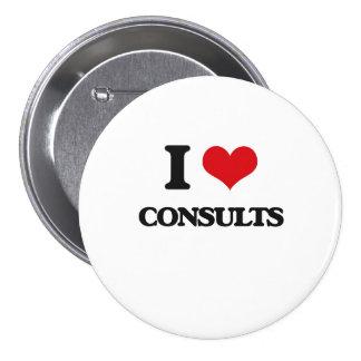 I love Consults Pin