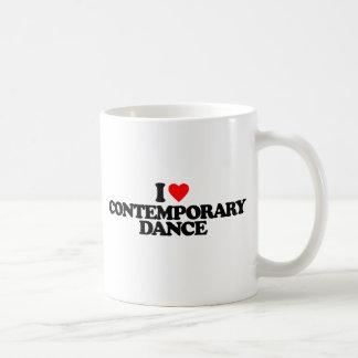 I LOVE CONTEMPORARY DANCE COFFEE MUG