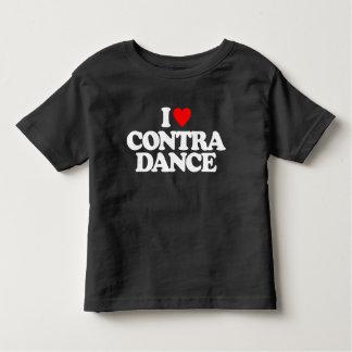 I LOVE CONTRA DANCE TODDLER T-SHIRT