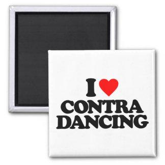 I LOVE CONTRA DANCING MAGNET