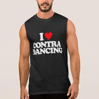I LOVE CONTRA DANCING SLEEVELESS SHIRT