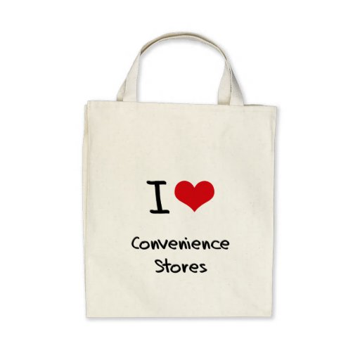 I love Convenience Stores Tote Bags